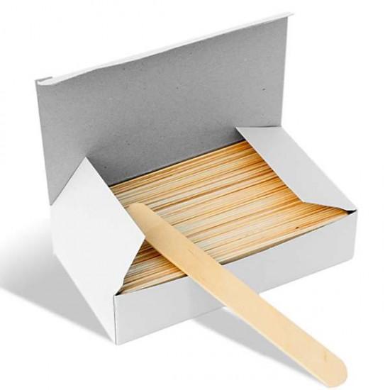 Дървени шпатули за кола маска - Опаковка 100 бр.