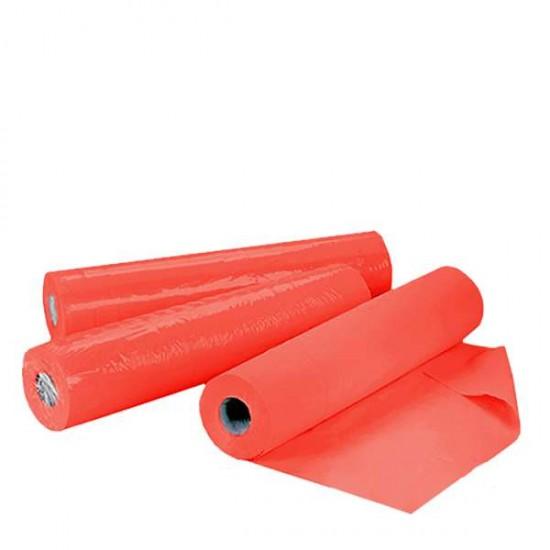 Червени еднократни чаршафи ролка TNT – нетъкан текстил 60см или 70см