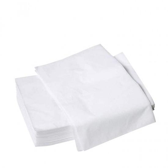 Еднократни бели чаршафи TNT, без ластик – 10 бр.