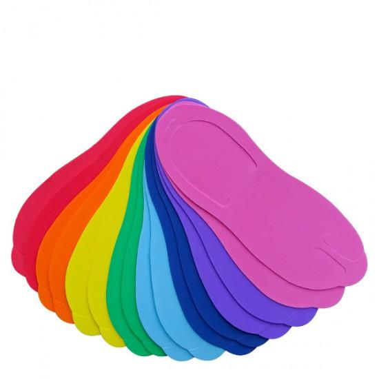 Еднократни цветни чехли за педикюр