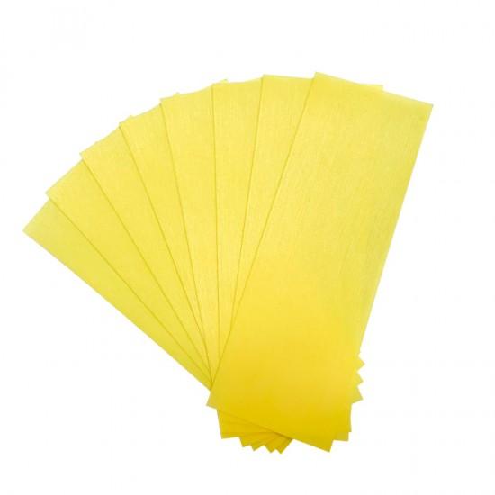 Еднократни ленти за кола маска от нетъкан текстил в жълт цвят 50 броя