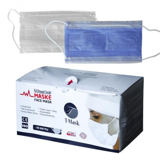 Кутия от 50 броя медицински маски T-mask