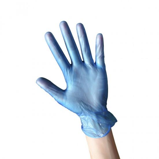 Еднократни нитрилови ръкавици в син цвят, 100 броя