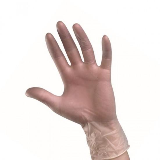 Безцветни ръкавици от винил за еднократно ползване, 100бр