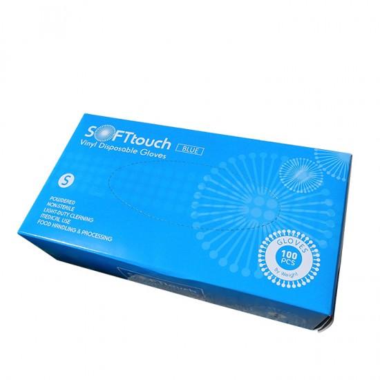 Soft touch нестерилни ръкавици за еднократна употреба от винил 100 броя
