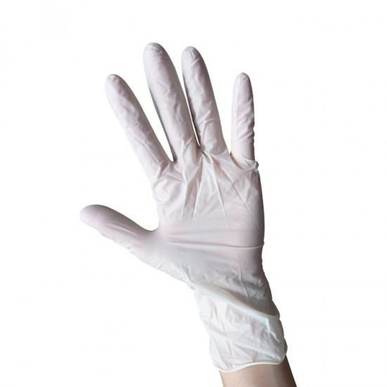 Ръкавици за еднократна употреба от латекс с пудра, 100 броя